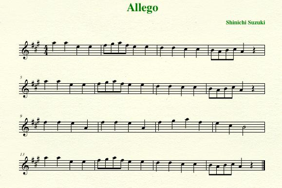 Suzuki Viola Book  Allegro