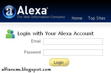 Cara Verifikasi/Claim Blog di Situs Alexa