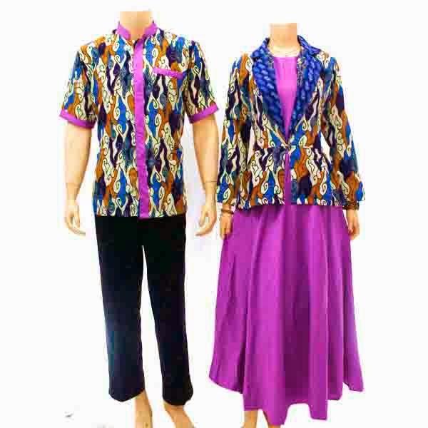 Baju Batik Pasangan Muslim