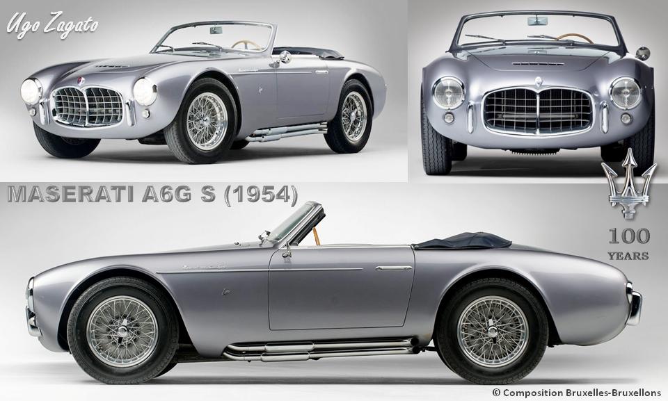 MASERATI 100 YEARS - AUTOWORLD BRUSSELS -  Maserati A6G Spider 1954 - Design Ugo Zagato - Bruxelles-Bruxellons