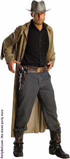 Jonah Hex Molded Vinyl Gun Belt With Attached Molded Weapons Adult