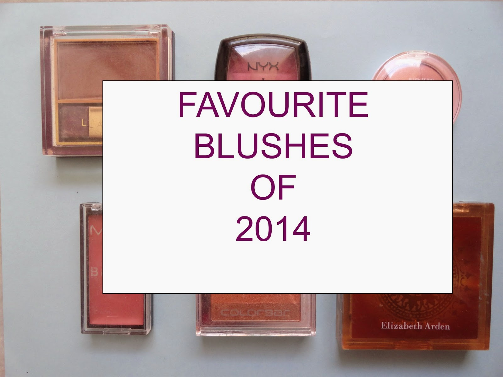 My Top Blushes for the year 2014 + Inventory image