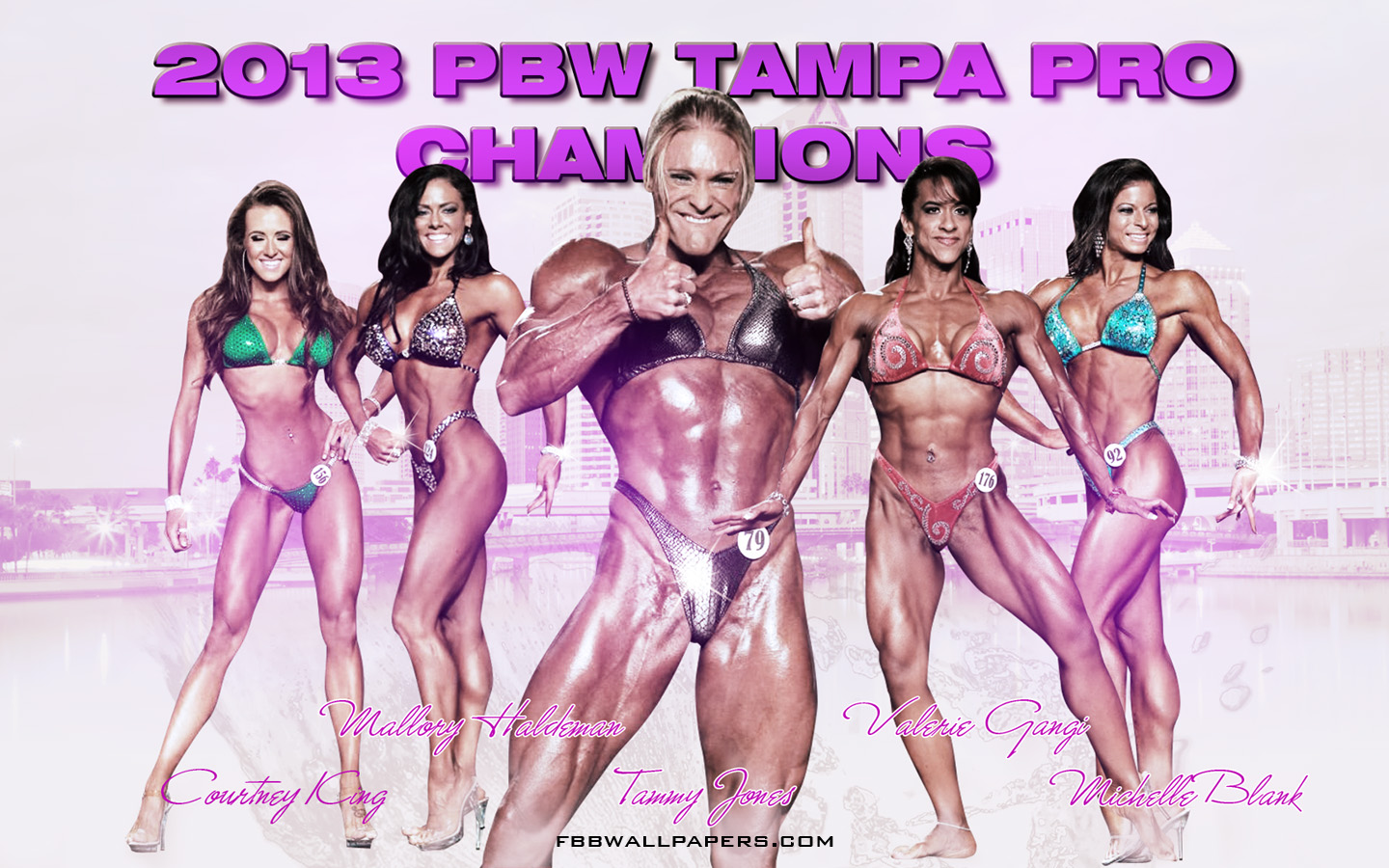 2013 PBW Tampa Pro Women Champions 1440 by 900 Wallpaper