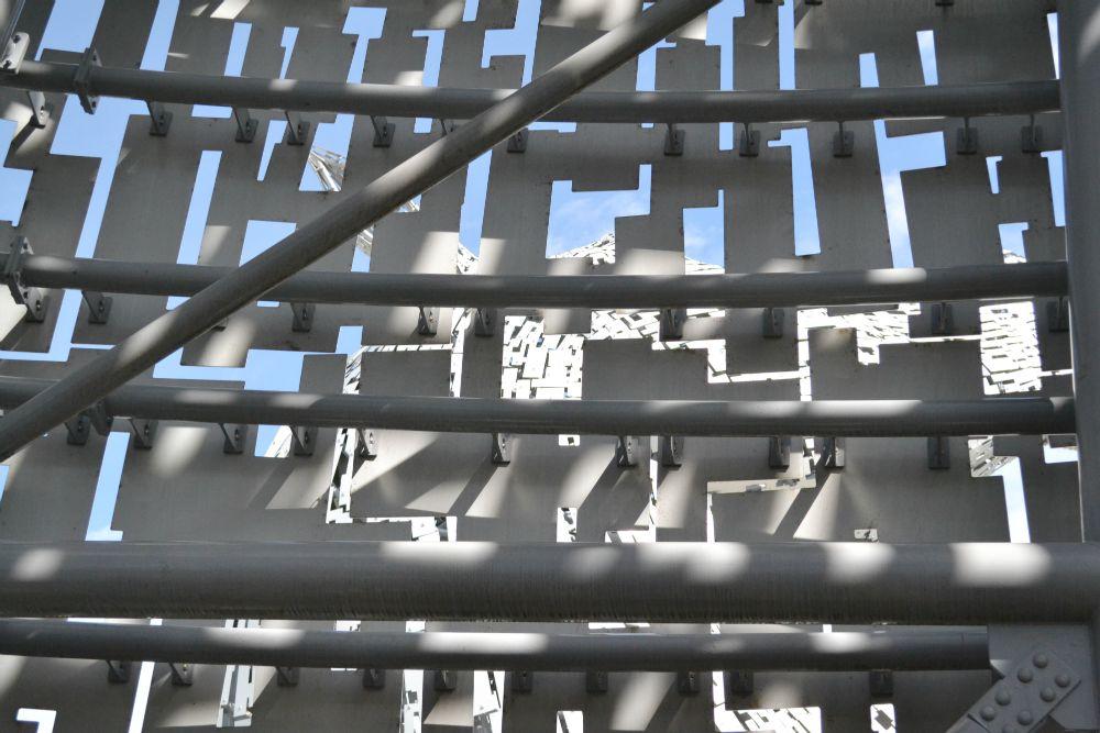 inside kelpie sculpture helix park falkirk