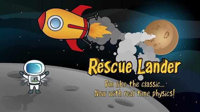 Rescue Lander nos propone una vuelta en móviles al clásico Lunar de Atari
