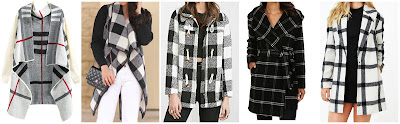 SheIn White Long Sleeve Plaid Knit Cardigan $22.33 (regular $31.50)  SheIn Black White Long Sleeve Plaid Belt Coat $29.90 (regular $36.83)  Forever 21 Check Plaid Toggle Coat $39.99 (regular $57.80)  Ralph Lauren Windowpane Plaid Hooded Wrap Coat $158.00 (regular $395.00)  Finders Keepers Plaid Vacate Coat $190.00