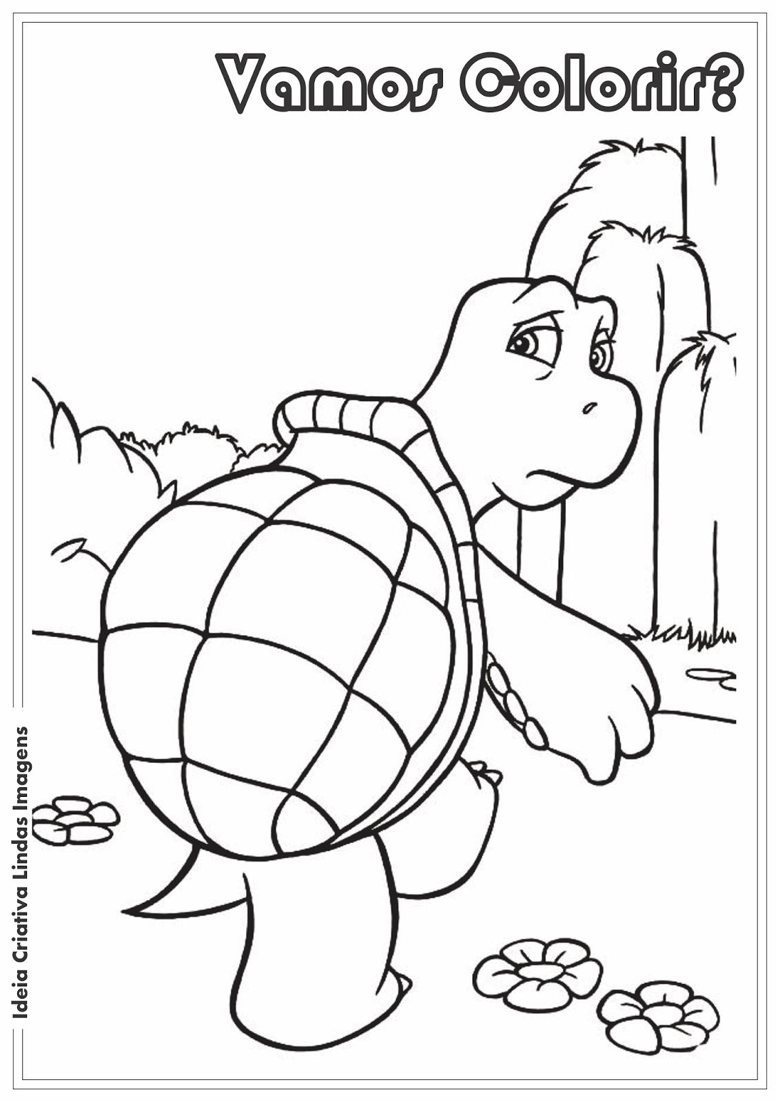 Os Sem-Floresta - Verne desenho para colorir