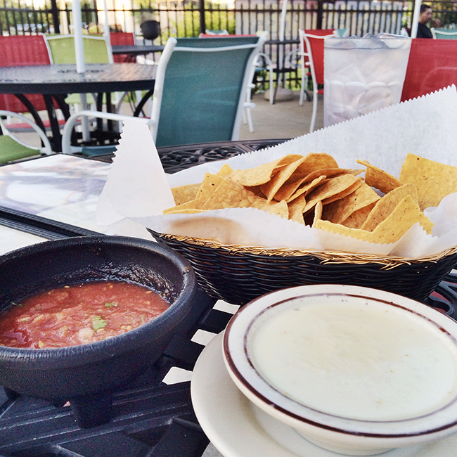 chips salsa and queso