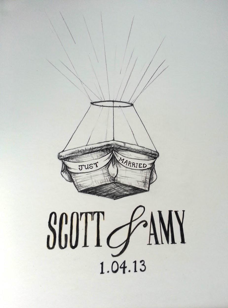 Hot Air Balloon Basket Sketch