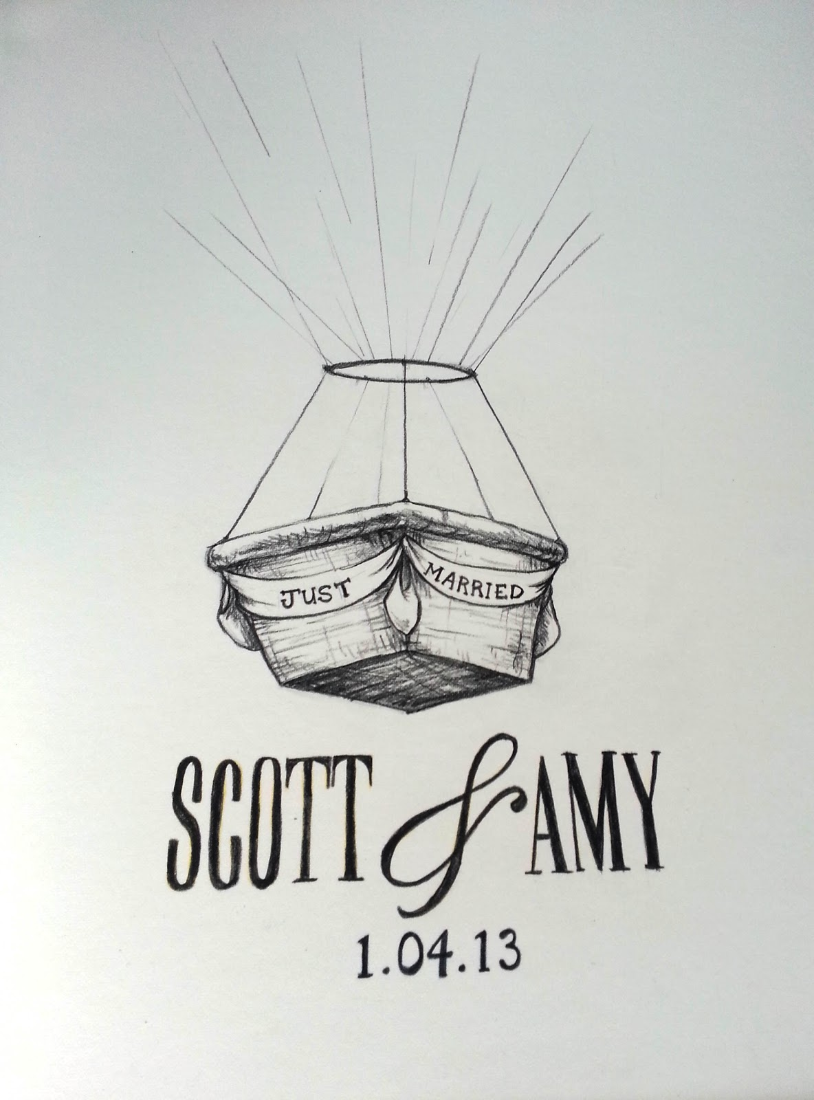 Made by Me. Shared with you.: Hot Air Balloon Thumb Print Guest Book