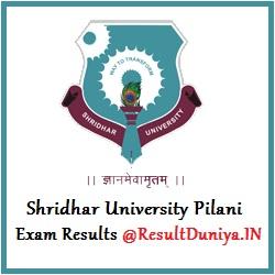 Shridhar University BA BSc BCom BBA BCA Results 2016