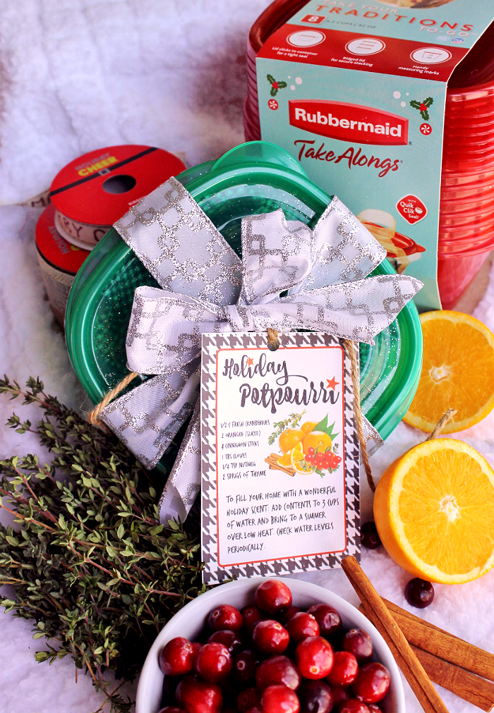 Holiday Fragrance Stove Top Potpourri- #ShareTheHoliday with Rubbermaid TakeAlongs from Walmart. Package and share homemade treats and gifts. AD