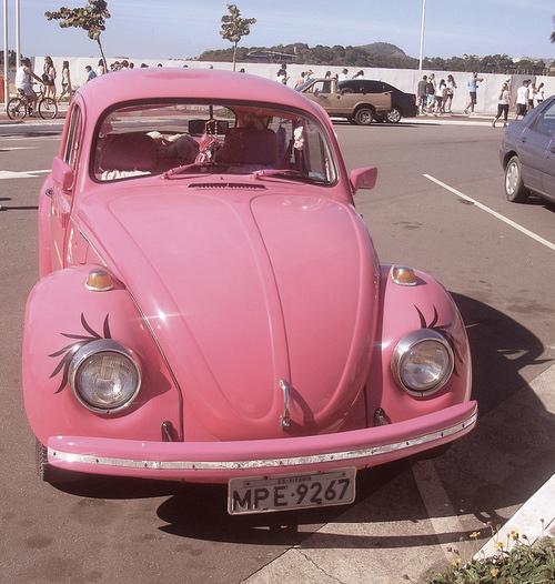 secret hipster pink car