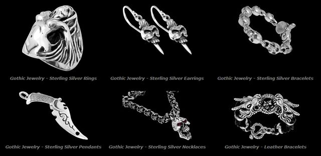 Gothic and Dark Jewelry