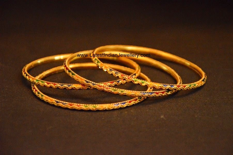 daily wear simple gold bangles