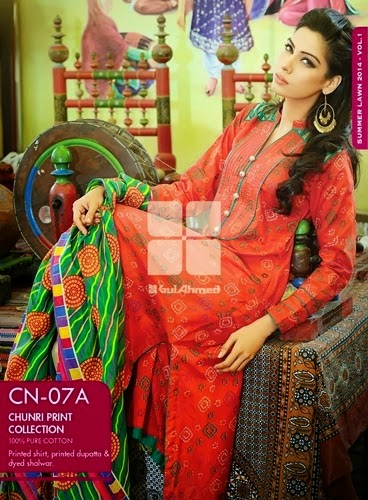 Gul Ahmed, Exclusive Spring, Summer Prints, Dresses Collection 2014-15
