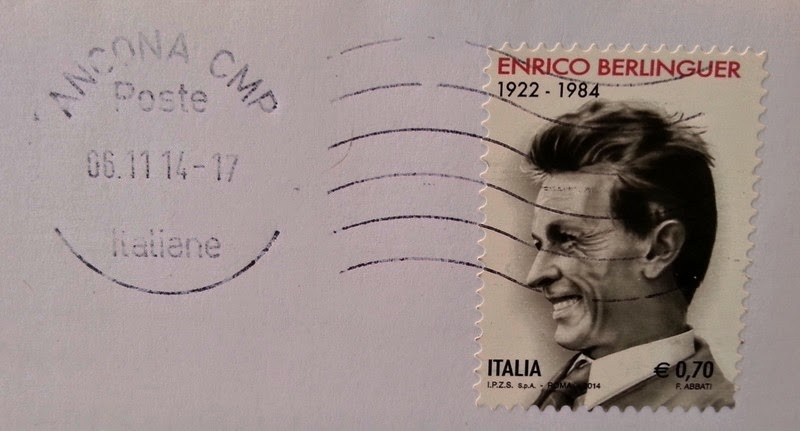 Francobollo commemorativo di Enrico Berlinguer, nel trentennale della scomparsa