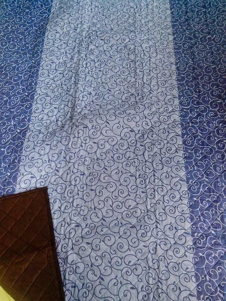 tikar dakron motif abstrak biru1