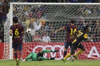 Malaysia Vs Barcelona (1-3)