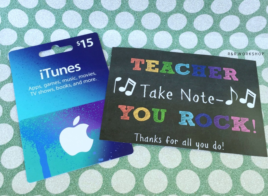 Teacher You Rock Teacher Appreciation Gift Giggles Galore