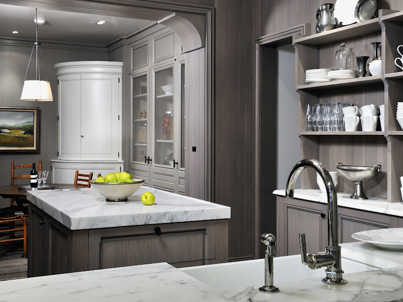 Grey wash kitchen cabinets title=