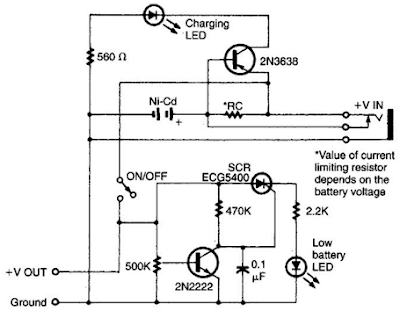 Intelligent Battery Charging Circuit Diagram