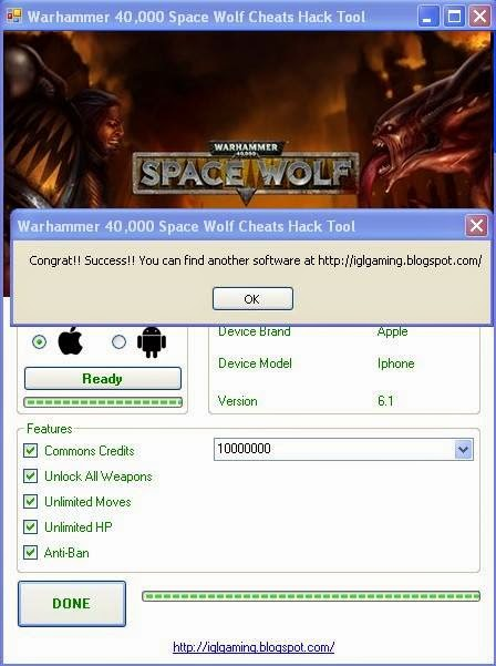 Warhammer 40 000 Space Wolf Cheats Hack Tool