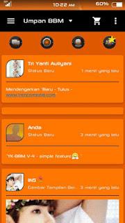Tema BBM YK Orange Dark V4 Based 2.9.0.51 + Clone