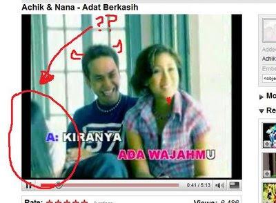 Penampakan Hantu Dalam Klip Video Achik Dan Nana