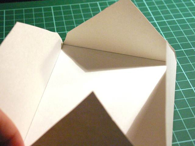 doblado de papel para sobres