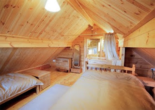 inside a log cabin