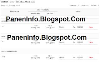 kereta api dan pesan tiket KA online yang PanenInfo sampaikan untuk ...