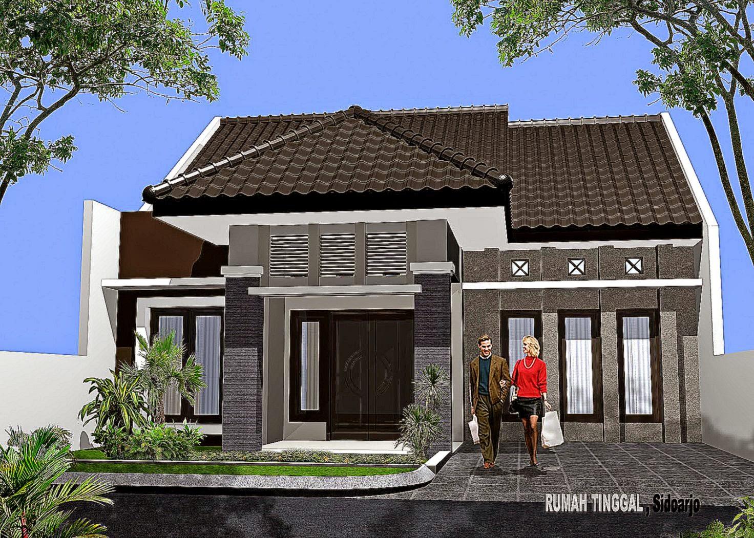 Gambar Rumah Minimalis Dengan Teman  Desain Rumah Minimalis