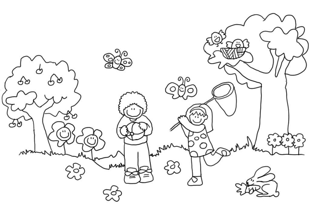 Famoso Hojas Para Colorear Primavera Para Jardín De Infantes ...