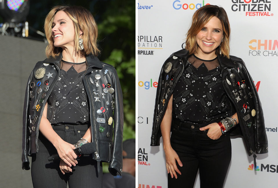 sophia bush speaks onstage global citizen festival