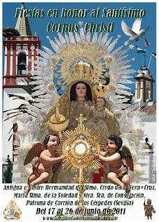 Carrión de los Céspedes - Cartel Corpus Christi 2011