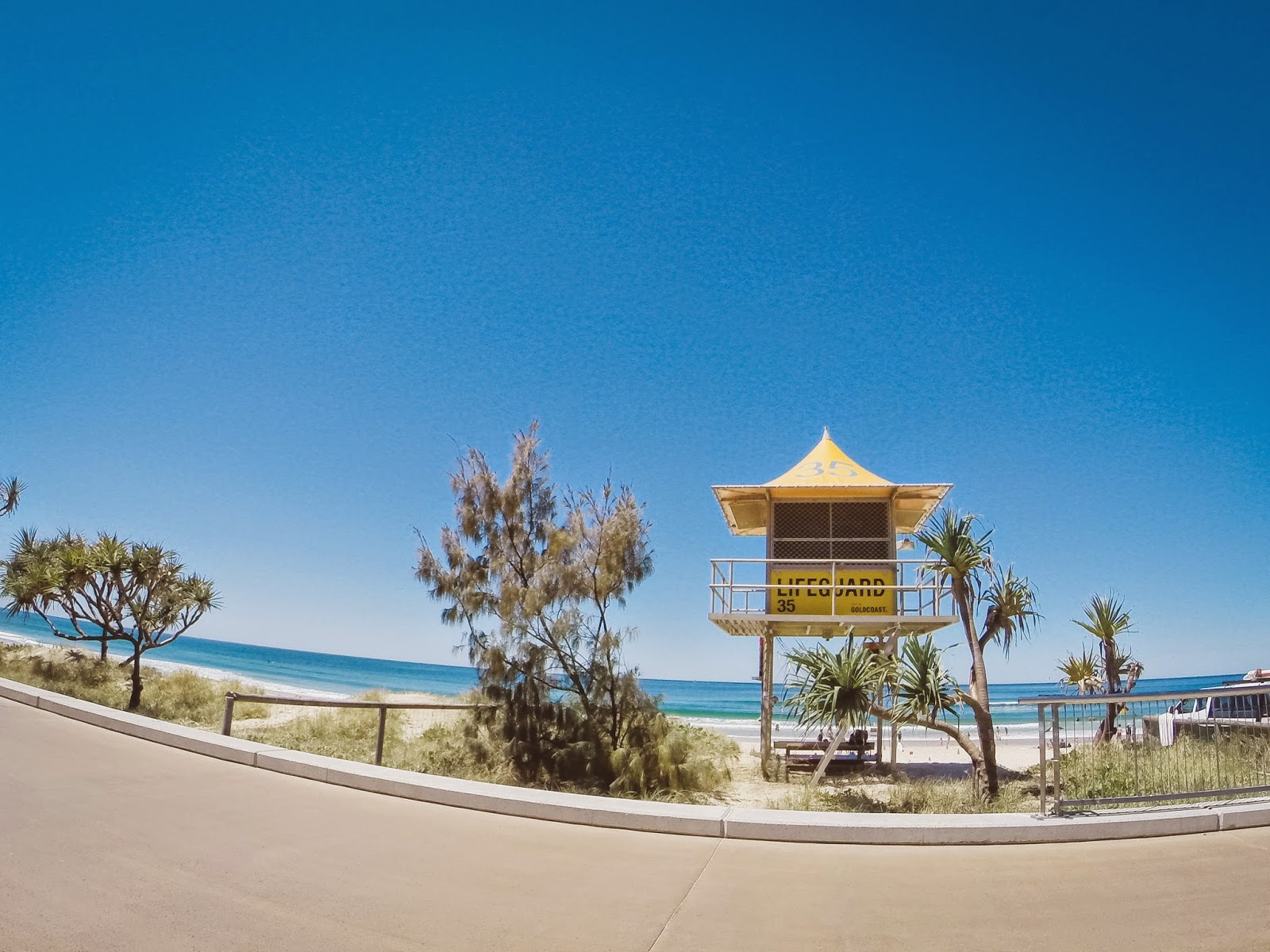 Gold Coast, Australia, Lifeguard stand, Surfers Paradise beach