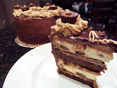 Christine's Kitchen Chronicles: Peanut Butter Cup Chocolate Cheesecake