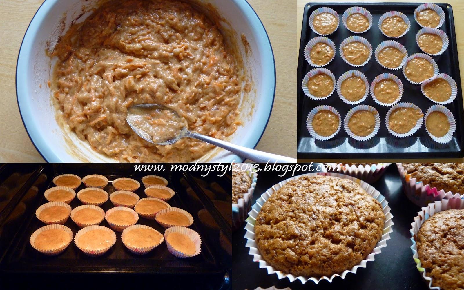 Muffinki marchewkowo - cynamonowe