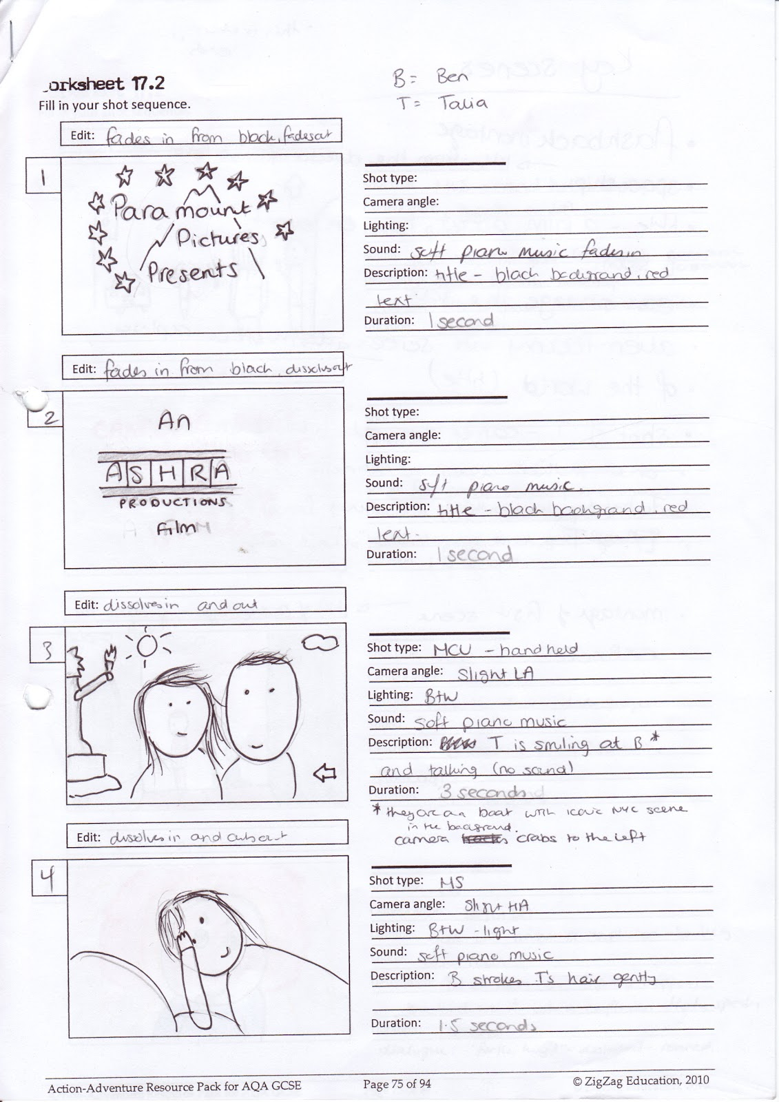 Bhavin\'s Action Adventure Blog!!!: My completed trailer storyboard