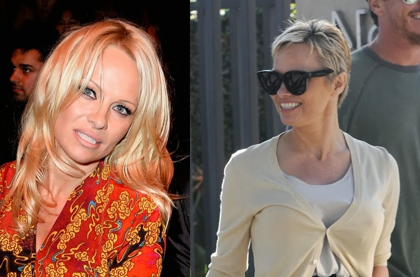 BeautieSmoothie: PAMELA ANDERSON GOES PIXIE CUT