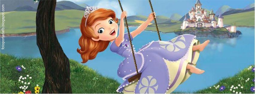 Portada para facebook con el tema de la princesa sofia, la princesa latina