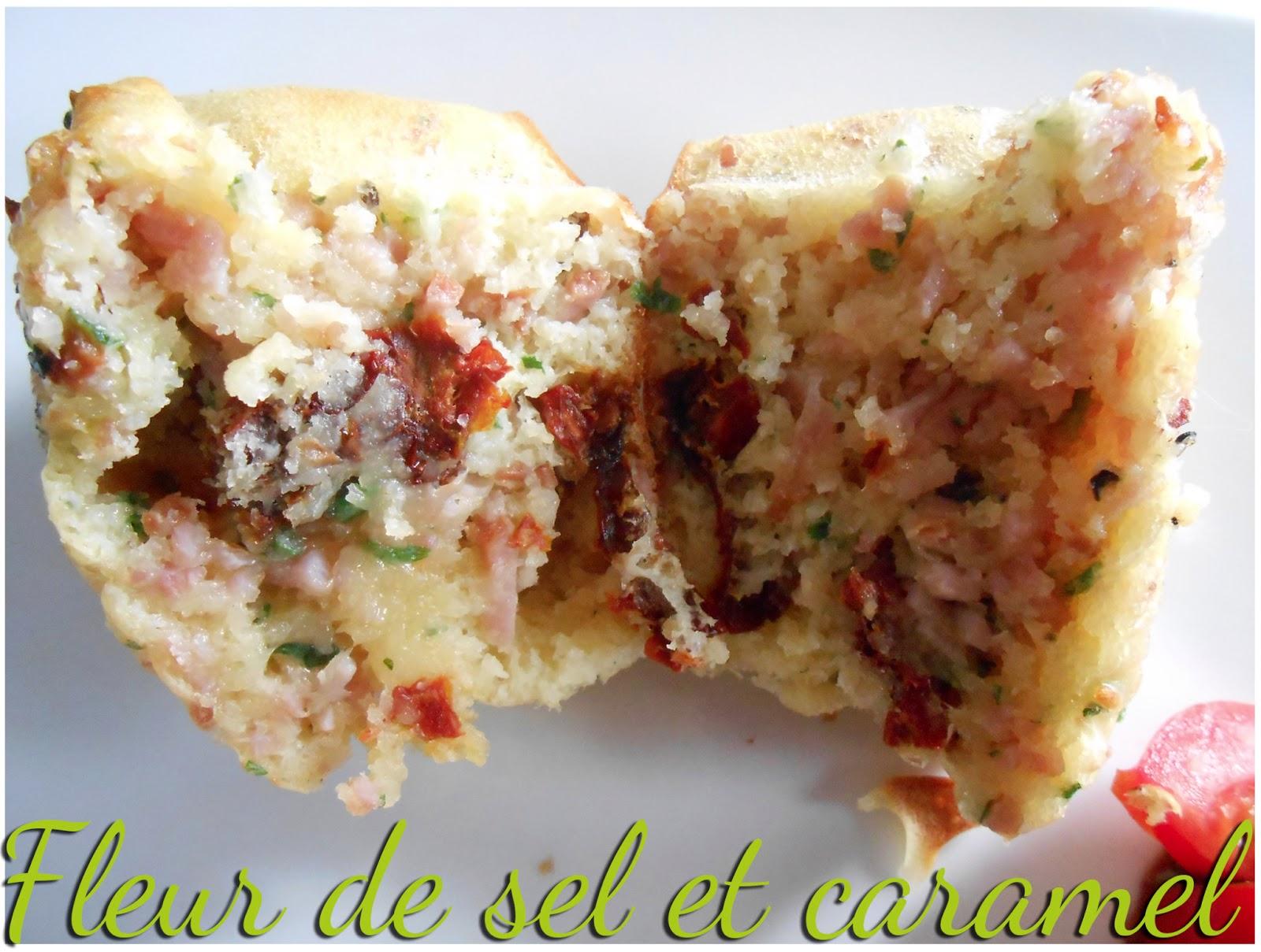 Muffins jambon, comté et tomates séchées