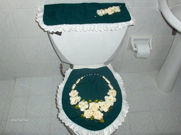 Manos Creativas: Juego de baño verde
