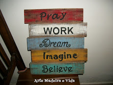 Placa Rústica - Pray Work