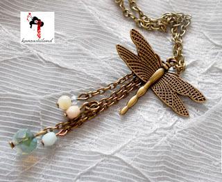 kanzashiland colgante libélula