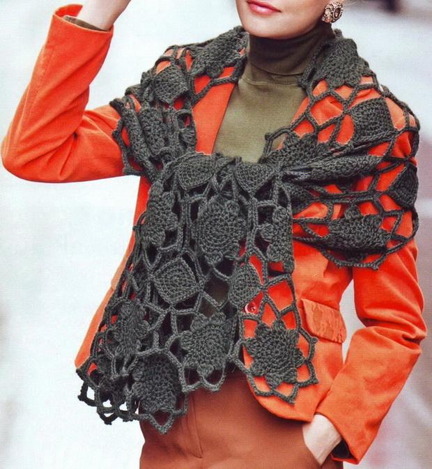 Crochet Shawls: Crochet Pattern - Elegant Shawl Wrap For Women