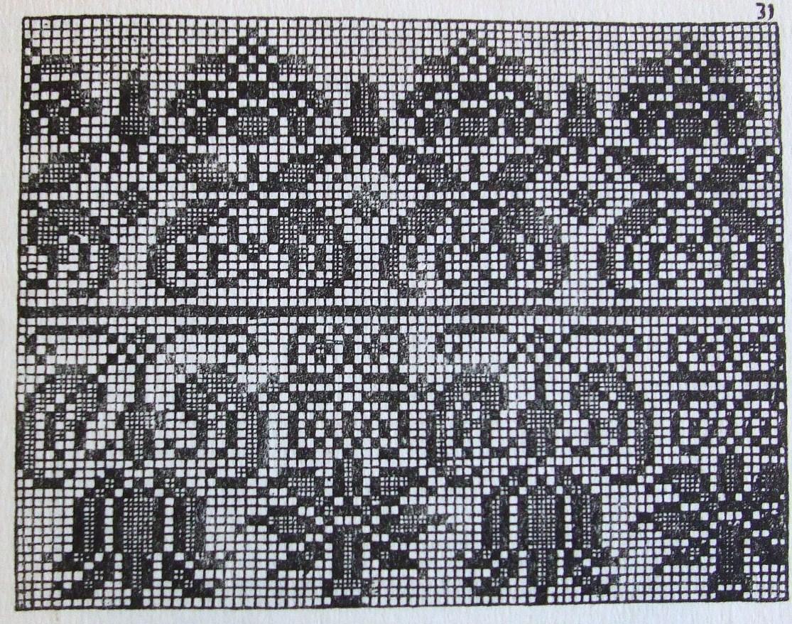 геометрический угловой бордюр схема для вышивки