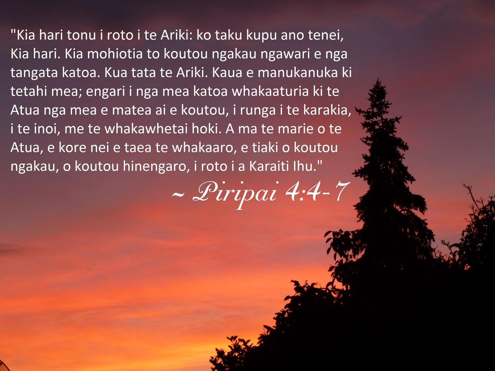 Philippians 4 4 7 in te reo m ori