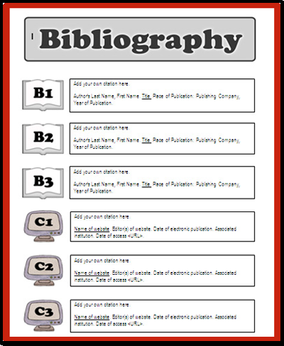 how to create a bibliography page